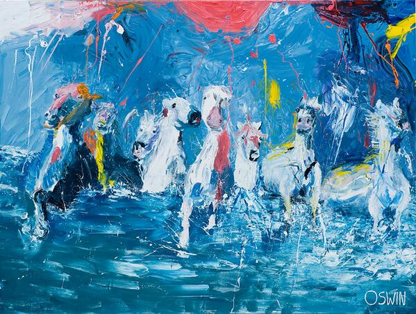 I Will Survive / Acryl verf op canvas doek 150x200cm http://t.co/uo6yrZFVQ9 .@OswinGesselli http://t.co/odP9WtM7kD