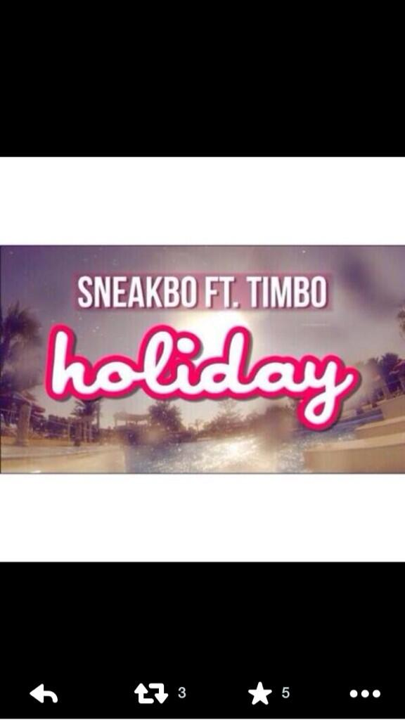 Let's get holiday to 100k today what you saying @Sneakbo another vid at 100k?? http://t.co/8B7GpeewmB
