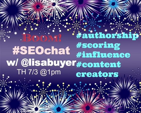 When Google Says #Boom! See what #SEOs say! See you Th 7/3 at 1 pm ET  #SEOchat with me http://t.co/hehwkcNlgT