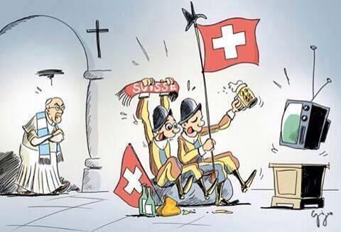 ヴァチカンのオフィシャルツイートが洒落ている(笑)法皇さまはアルゼンチン人、ヴァチカンを守る傭兵はスイスから派遣されています。#プロホガソン @PCCS_VA: Argentina vs Switzerland :) http://t.co/D0IJPcDdoA