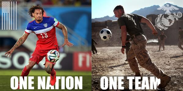 Ooh-rah, @ussoccer Get some, today.   #OneNationOneTeam #USMNT #AreYouReady #WorldCup2014 #1N1T http://t.co/nrsQtn07W8