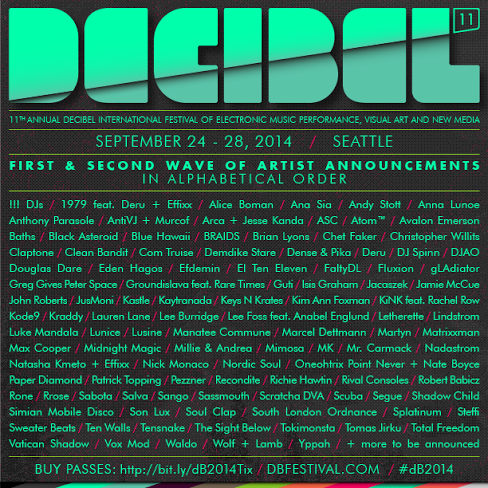 We just announced the full lineup of artists performing at #dB2014! Buy your pass now! → http://t.co/0CYjTxur8R http://t.co/UL15UjlMRq