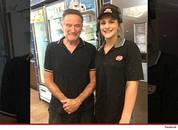 Robin Williams last picture before dying