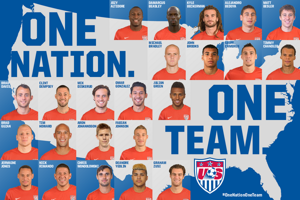 Go Team #USA! I am excited to see @USSoccer play their fourth match of the #WorldCup today at 4 PM EST! http://t.co/dKFpPR69lO