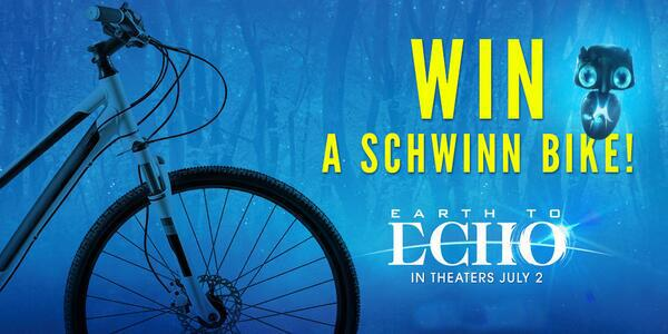 Be sure to stick around! We'll be giving away a GRAND PRIZE pack w/#Schwinn bike later in the party! #EarthToEchoChat http://t.co/QJcSyjcnjE