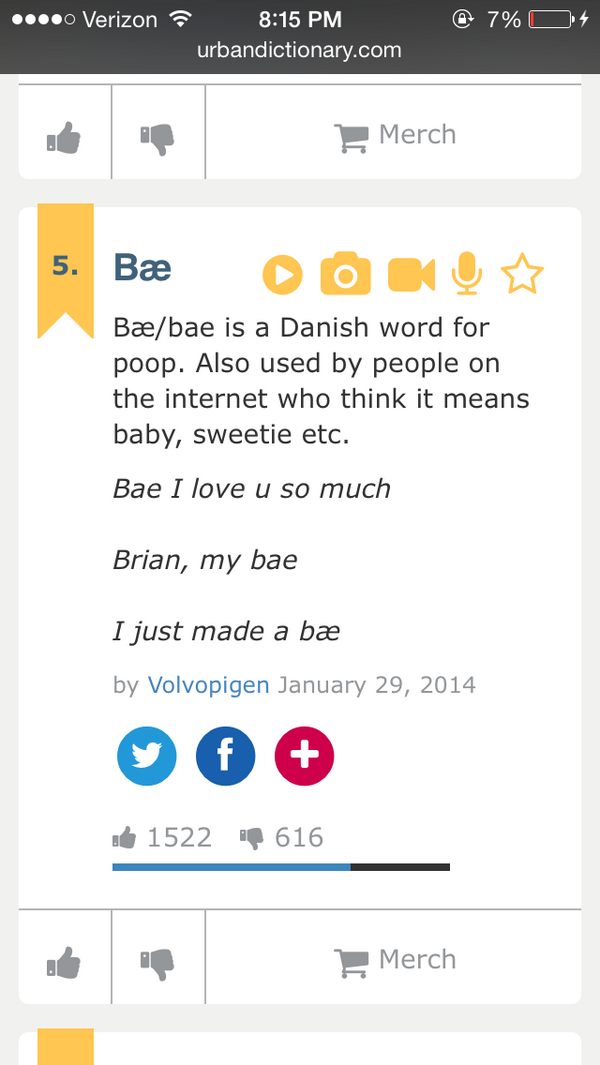"I can finally get on board with the word ""bae.""  #poop http://t.co/ThSQkgahKN"