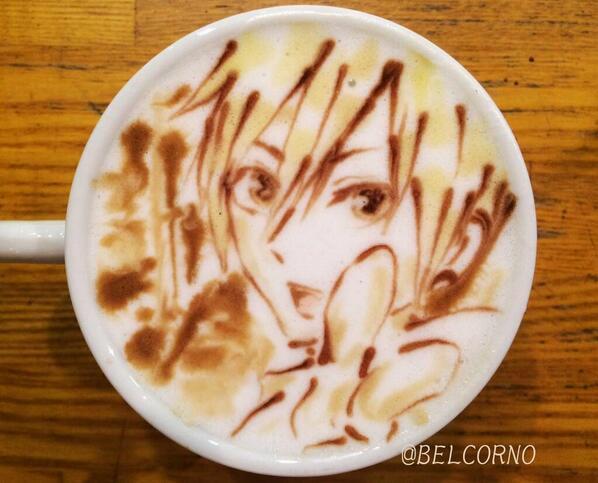 ラテアート【紀田正臣】@デュラララ!!LatteArt【Masaomi Kida】#ラテアート#デュラララ#紀田正臣#カ