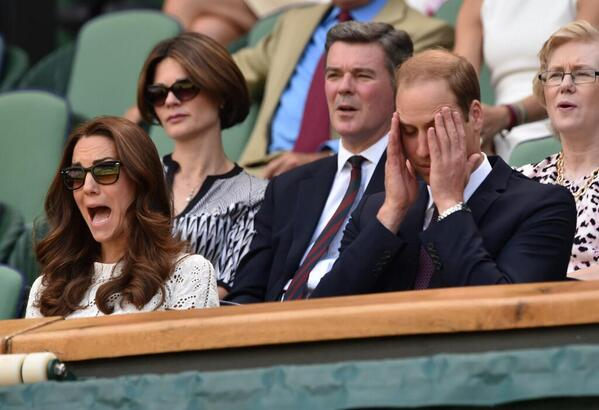 Getty got a brilliant snap of William & Kate reacting to Andy Murray's #Wimbledon woes. Royals, they're just like us! http://t.co/kp2lXIc7dL