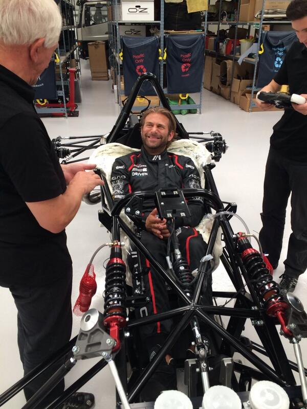 . @JCartu gets fitted for his #BAC #Mono optional Made to Measure bespoke seat at the factory today #madeinliverpool http://t.co/4SwgPS15kr