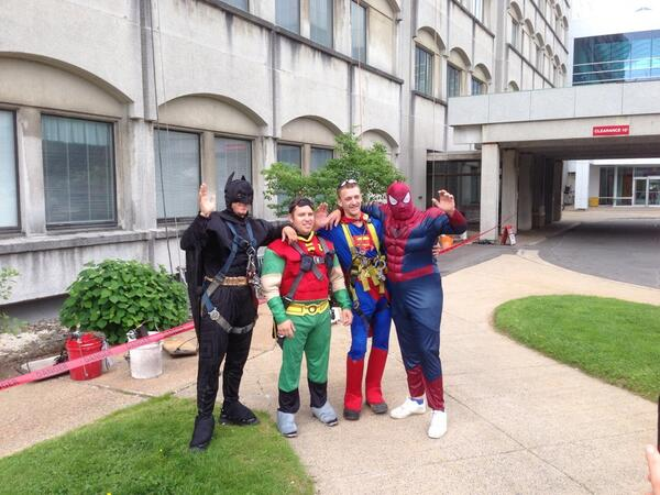 Holy window washers Batman! MT @IWKHealthCentre: Thanks #skyreach #halifax who showed us what a true superhero is. http://t.co/9xi7m7bzBI