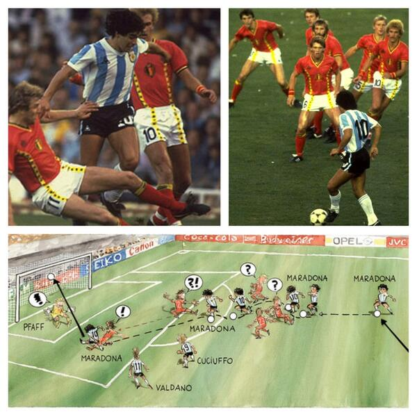 #BEL will face #ARG with memories of #Maradona's magic in #Mexico86. #Messi is said to be inspired by that match. http://t.co/SMmF63WJ4j