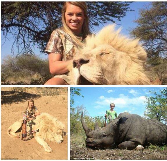 Kendall Jones must be a sociopath to smile over these majestic animals she has killed for pleasure. What a disgrace. http://t.co/e92Muvr8hh