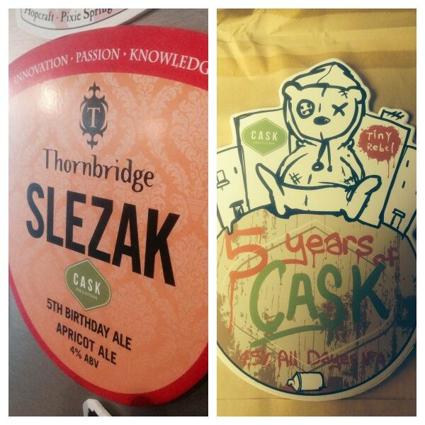 Beautiful artwork from @Thornbridge and @tinyrebelbrewco - first beers are starting to be racked :) #caskis5 http://t.co/alyaxloGgH
