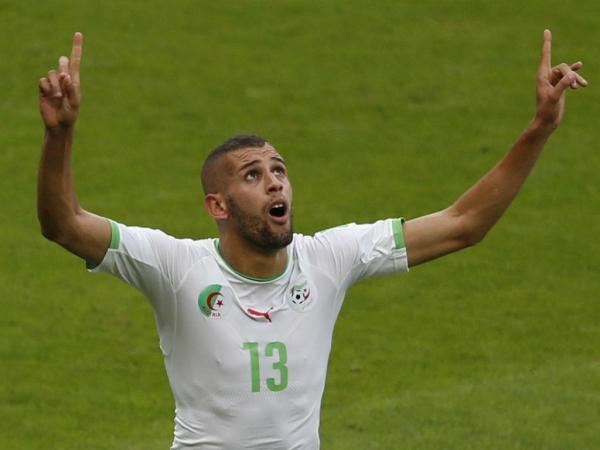BrkB6U IQAAiYJo Forward Islam Slimani reveals Algeria team donated their World Cup prize money to people in Gaza