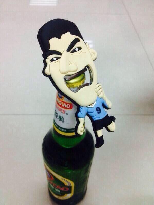 Luis Suarez bottle opener. http://t.co/o5j74c1FFQ