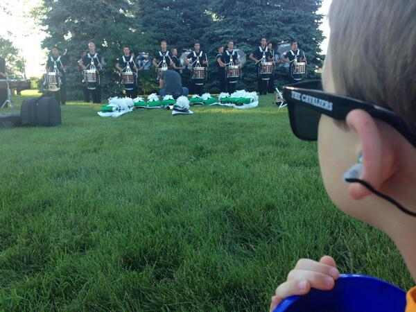 "Those #ETYPlugs look good!! ""@joshuaglenn: His first @DCI show and lot visit with @TheCavaliers http://t.co/ZKYY51Bio3"""