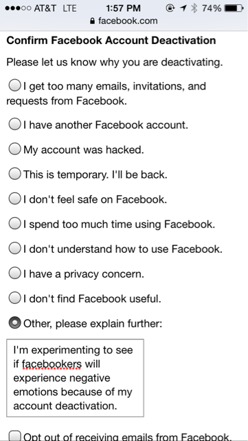 Turning the tables on the #FacebookExperiment. I'm sure they'll be devastated. http://t.co/IPsD3BJss0