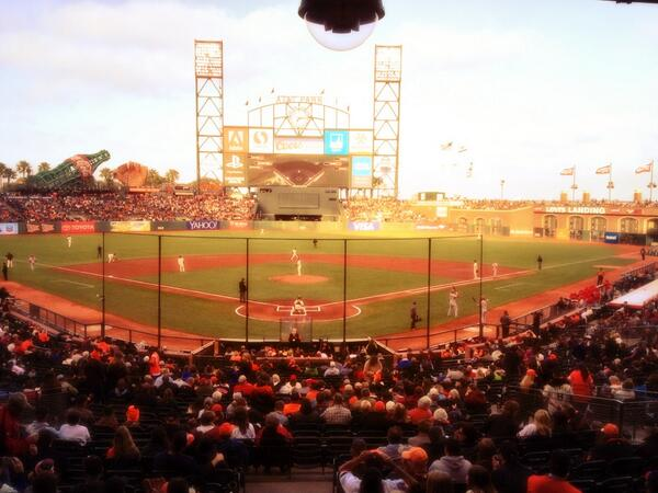 Game time from AT&T Park: #STLCards Adam Wainwright (10-4, 2.01) vs #SFGiants Ryan Vogelsong (5-4, 3.96) http://pic.twitter.com/hFSiUMgCfF