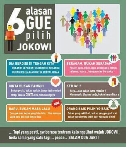 6 Alasan Pilih Jokowi @PDI_Perjuangan @gerakcepat_ID @kawanjokowi2014 http://t.co/BZCoRNdCc8