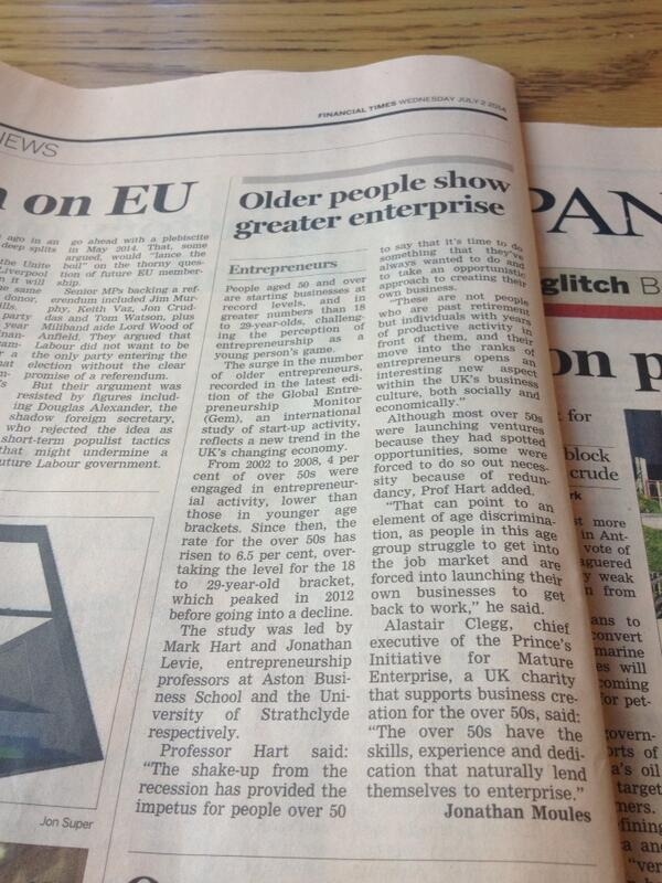 'People aged 50 and over are starting businesses at record levels' // good job @charityprime http://t.co/gJfjfr6nMj