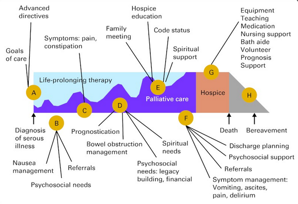 Good slide of interventions along the #palliative care timeline from @LindyLandzaat @PalliCareKU #hpm #hpmed http://t.co/PwYr9M5sti