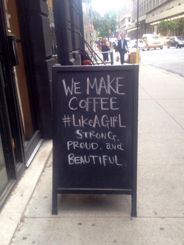 Seen on 27th street... (This one's for you, @iamnowMellyG. cc @soulcycle) #likeagirl