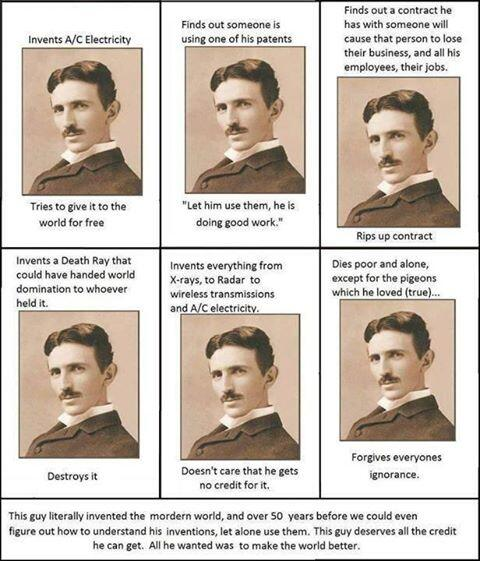 In honor of Nikola Tesla's birthday. Why he was the greatest geek that ever lived: http://t.co/ksRzaGYWT9 http://t.co/UpX3g7Z6DL
