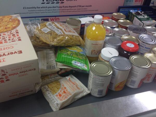 It's #FoodBank day at Tesco.  Here's my contribution.  Go on, feed someone!  @TrussellTrust http://t.co/awR4XiwMo3