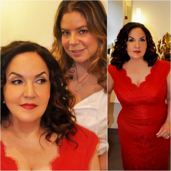 Makeup artist Francesca & stylist Angie created a glam look for actress @TheOlgaMerediz before the #Mezcla awards! http://t.co/xcZmgls2Ft
