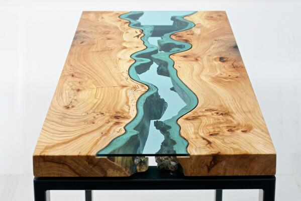 Gorgeous live edge & glass table http://t.co/2B6TJHbY8i