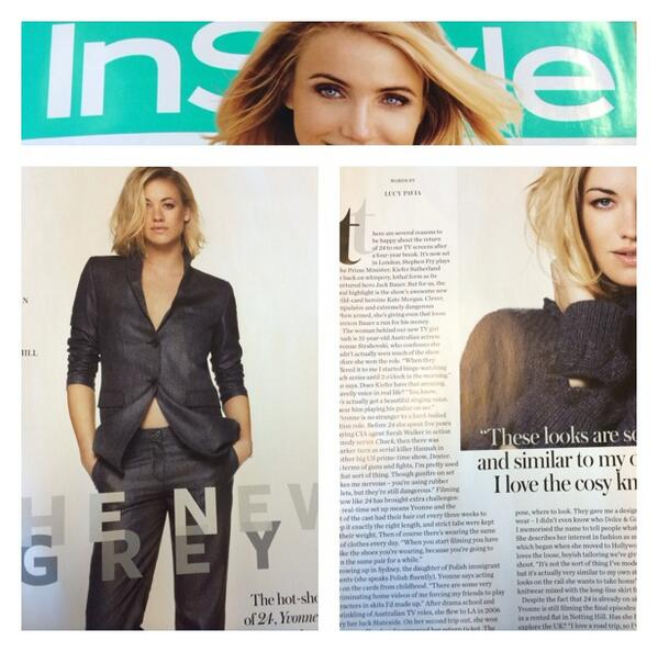 Scans anyone? RT @LucyPavia: In new issue of @instyle_uk I interview 24's badass new heroine @y_strahovski http://t.co/QWnz84M0WD