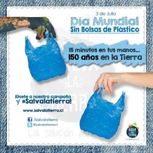 Las bolsas permanecen 15 minutos en tus manos pero 150 años en la Tierra. ¡Únete al #DiaSinBolsas y #Salvalatierra! http://t.co/jlh7YUMw8h