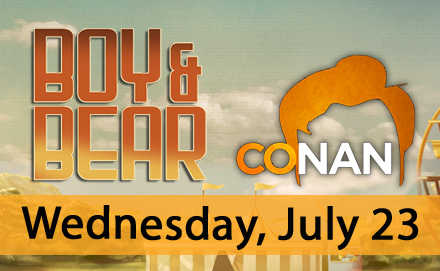 Thrilled to announce we'll be performing 'Southern Sun' on Conan O'Brien on July 23! http://t.co/JtYycVfjax