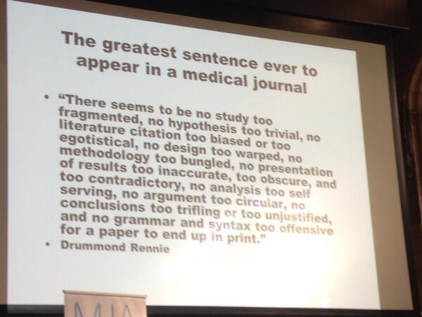 """@theMJA: The greatest sentence ever in journals ... @Richard56 #MJA100 http://t.co/sQpFfqkGWJ"" #AllTrials @bengoldacre"