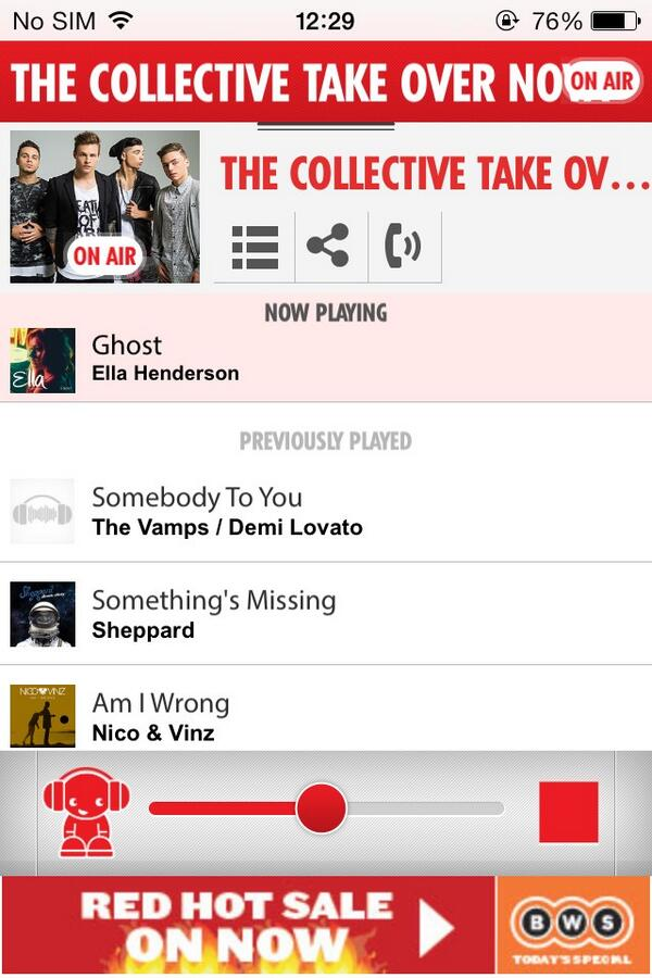 @TheCollective12 listening to @nova969 from the UK #collectiveslastnovanight
