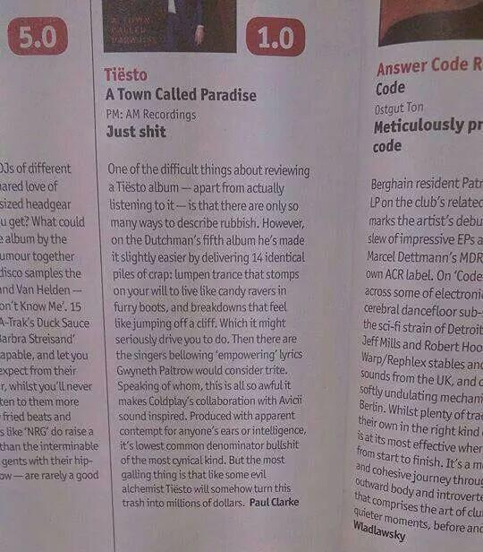 """""""@WelshIrvine: """"@mytweetsinnit: @DJmag spot on as per http://t.co/lAV70OL7pk"""" This is brilliantly cruel..."""" What a brilliant review!"""