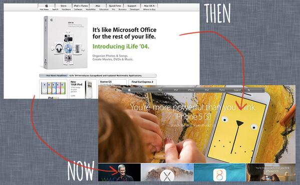 5 popular websites and how they looked 10 years ago - http://t.co/Q8QiX76Qh9 http://t.co/hvV9rr1aPC