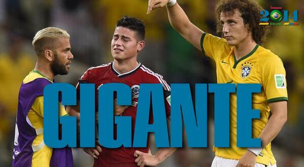 Un gigante @jamesdrodriguez, ¡GRACIAS! #GraciasColombia http://t.co/OzhpRUyduc #Brasil2014 http://t.co/zBbXRH9hHh