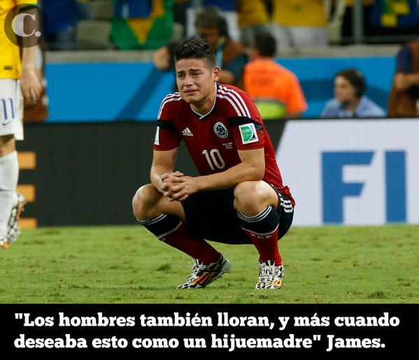 Sí, los hombres también lloran. Esas lágrimas de @jamesdrodriguez nos dan orgullo. http://t.co/zb85pdKDWW