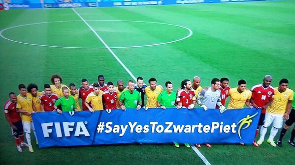 Fifa makes a statement #bracol #wk2014 #zwartepiet http://t.co/jfKiVnZd02