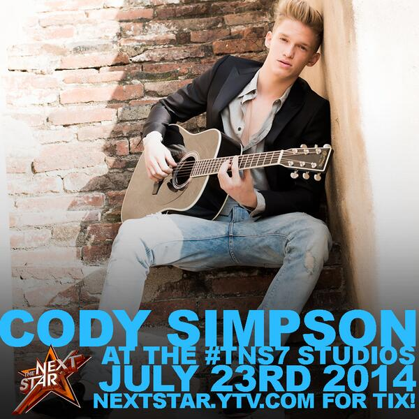 BREAKING NEWS: @CodySimpson is returning to @TheNextStar on July 23rd as a guest judge! #TNS7 http://t.co/fCNQofcpRy http://t.co/Wn51R51yeY