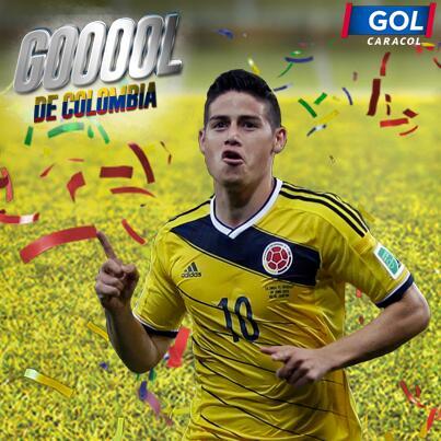 ¡Gooooool! @jamesdrodriguez descuenta para #COL que sueña con las semifinales. 2-1 con #BRA http://t.co/Ix3UEDqdEH