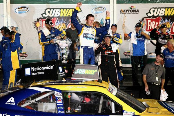 Retweet to congratulate @kaseykahne on his #SubwayFirecracker250 win at @DISupdates! #NASCAR http://t.co/lVuVrBCS31