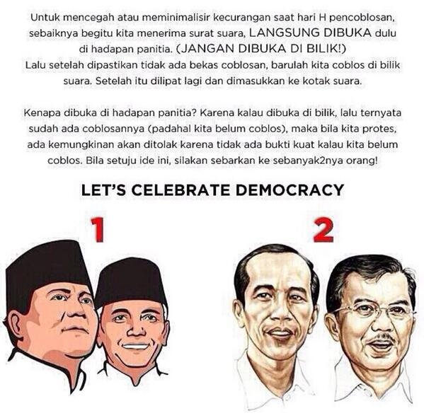 H-4 pemilu. Let's celebrate democracy!!! may the best men wins with dignity and grace!! ❤️ http://t.co/wgO3NJz4pr