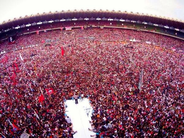 Sore ini di gelora bung karno - Jakarta #Jokowi9Juli #KonserSalam2Jari http://t.co/byHPCxZ5ik
