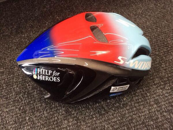 So proud that @MarkCavendish is wearing his @iamspecialized @HelpforHeroes helmet for the UK stages. #tdf. http://t.co/CZA6eCFqQs