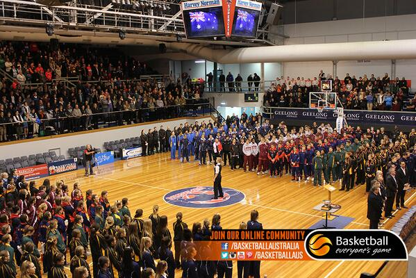 PHOTO: A great crowd was on hand for the U16's #AJC Opening Ceremony in @GreaterGeelong. Our future stars are here! http://t.co/ubPcs1yhb2