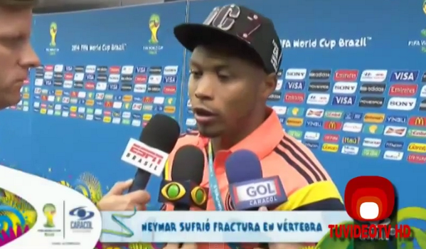 BrxpaI4IIAANW4P Juan Zuniga explains Neymar injury, I didnt mean to hurt him, I was defending my shirt; doesnt actually apologize [Video]