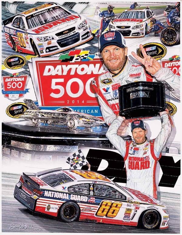 Gearin' up for the race!  Have you seen my new piece? #sambassartist #Daytona #NASCAR  http://t.co/NhmghelsW1 http://t.co/nnAf8aTcA5