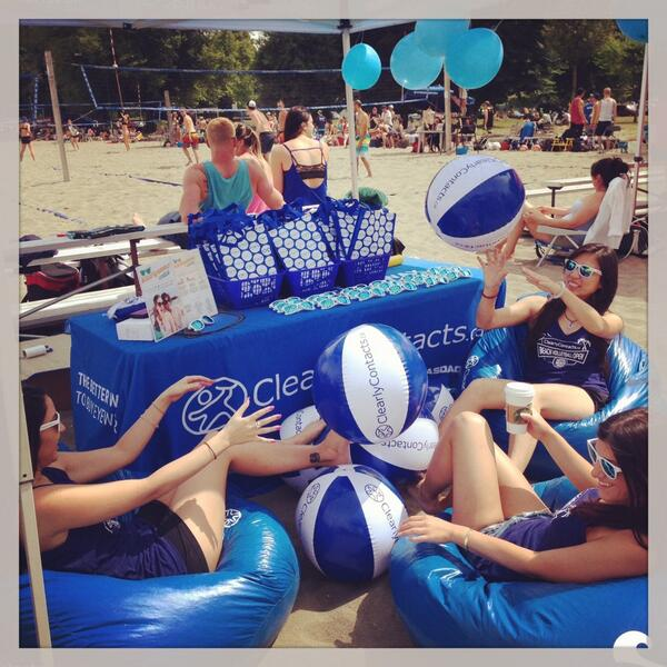 Come find us at Kits beach for the ClearlyContacts.ca beach volleyball open & get your swag bag! cc: @VolleyballBC http://t.co/qBYRbNBtQk